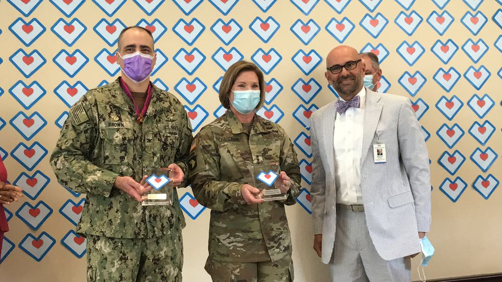 Baton Rouge General held a special second line to send off military doctors that have been...