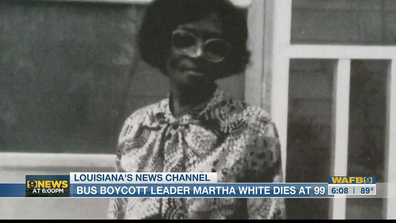 'Instrumental' leader of Baton Rouge Bus Boycott, Martha White, dies at 99