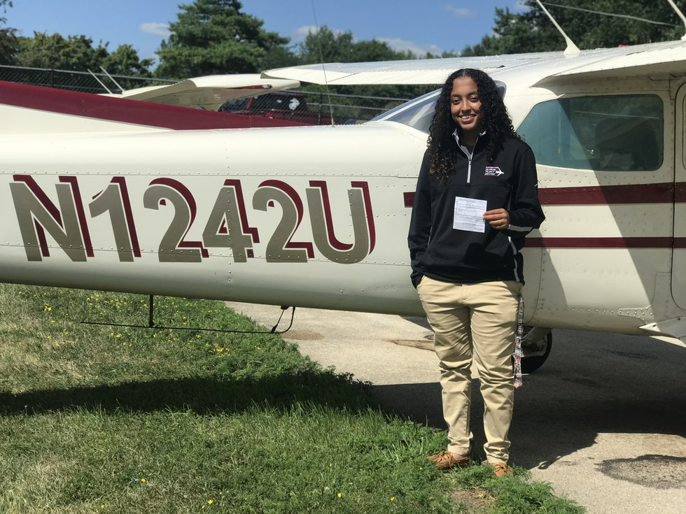 Kirsten Smith earned her private pilot's license at the age of 17.