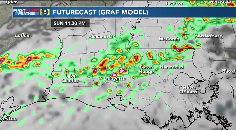 FIRST ALERT FORECAST: Sunday, May 9