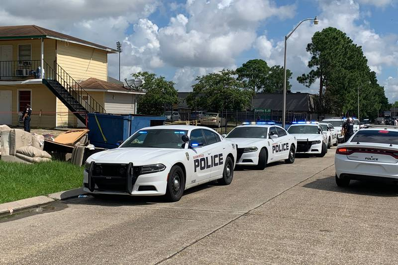 Police investigate shooting in 4700 block of Tigerland Drive.