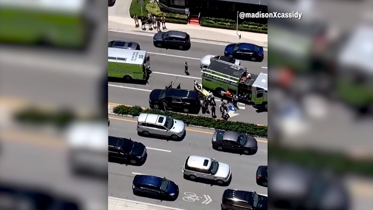 According to witnesses, the shooting began when two groups of rival rappers started arguing...
