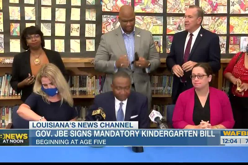 Sen. Cleo Fields comments on the signing of the mandatory kindergarten bill.