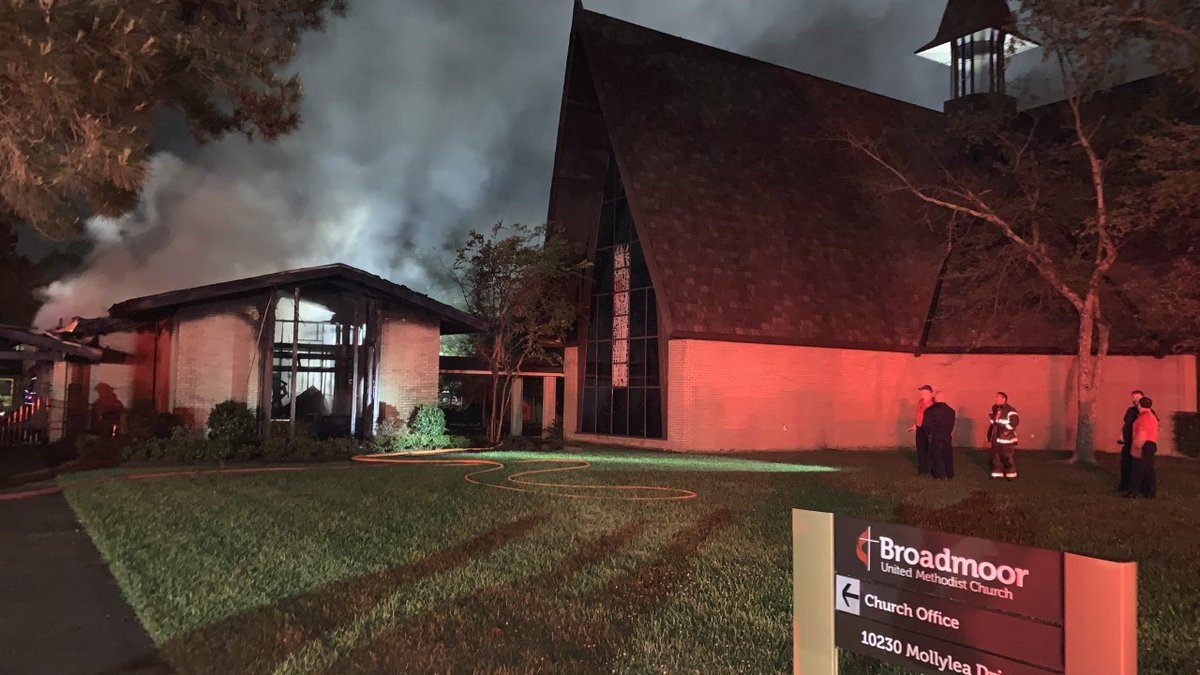 An office building was completely destroyed Friday, April 3 at Broadmoor UMC.