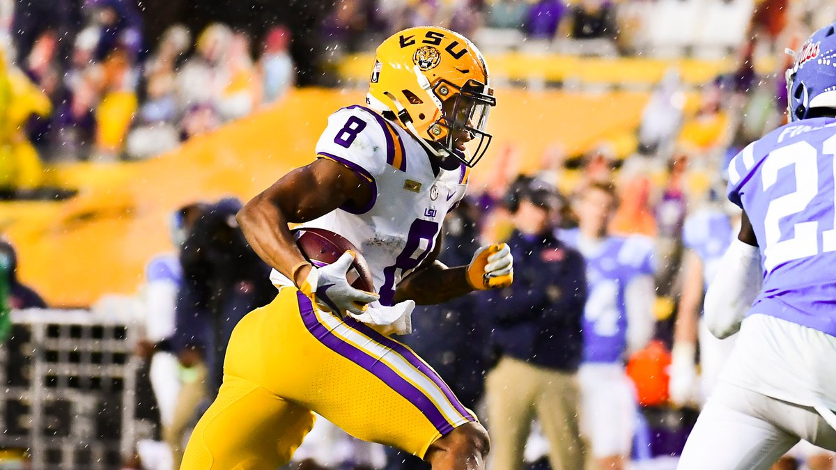 LSU running back Tre' Bradford (8) during a game against the Ole Miss Rebels at Tiger Stadium...