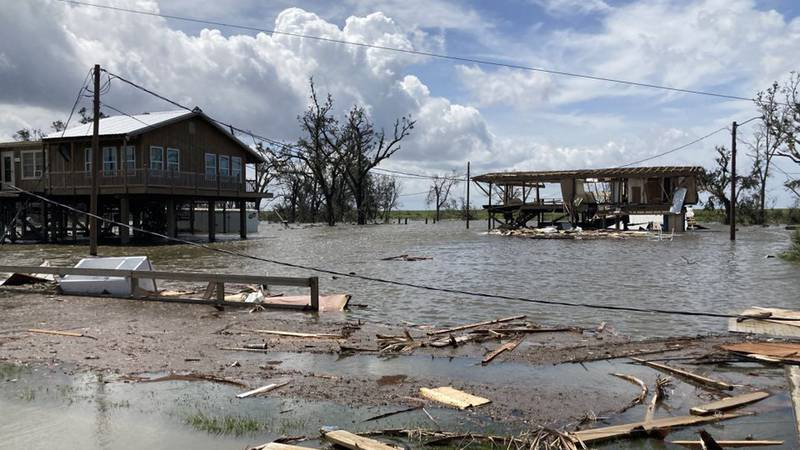 Hurricane Ida caused lots of damage in Pointe-aux-Chenes, La., which is located in Terrebonne...
