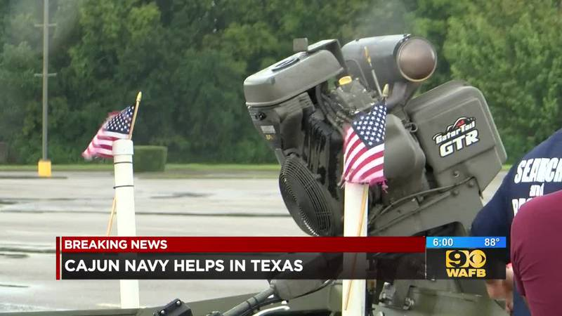 Members of the Cajun Navy drop everything to help flooded residents in southeast Texas