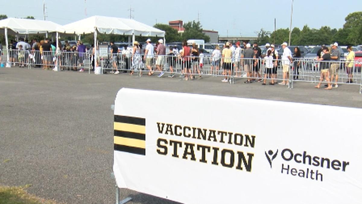 Ochsner holds vaccine & blood drive at Saints training camp