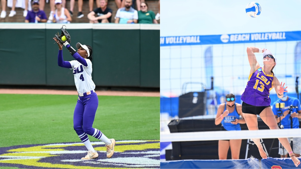 Aliyah Andrews (left) and Kristen Nuss (right) were named as 2021 NCAA Woman of the Year...