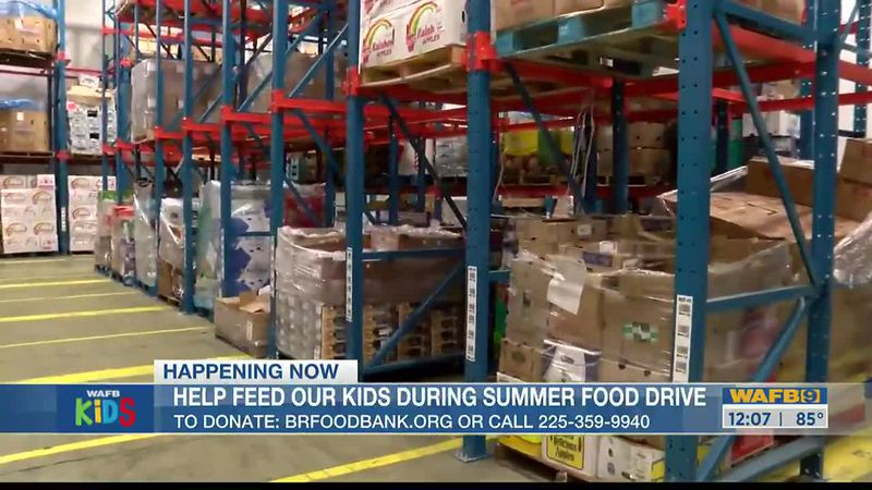Help feed area kids during a summer food drive.