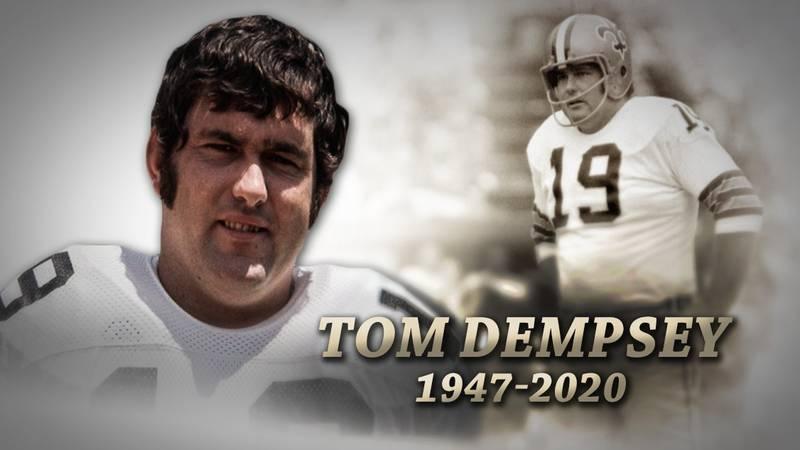 Saints legend Tom Dempsey passed away due to Coronavirus complications