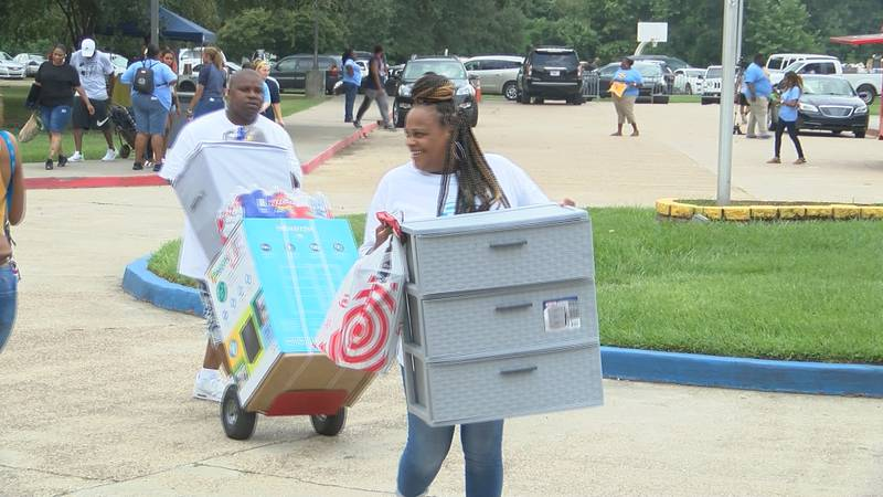 Move-in day at Southern University was Wednesday, Aug. 14.