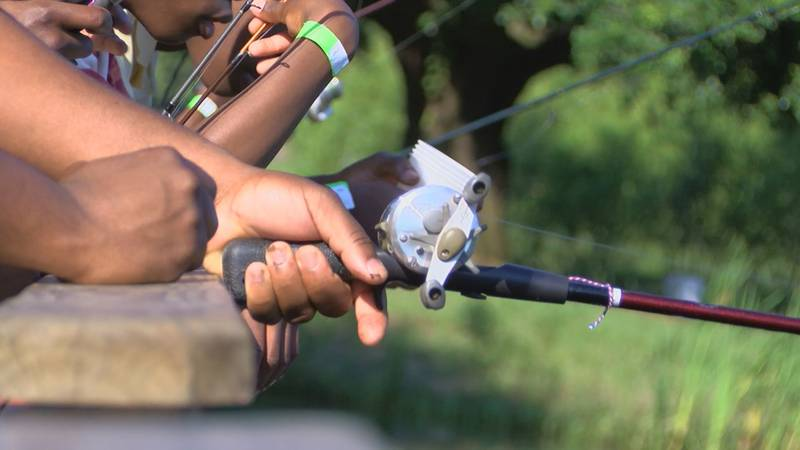 Many people are taking advantage of more time at home by fishing.