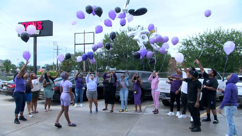 A balloon release was held Monday, June 21, to honor one of the victims of a deadly shooting in...