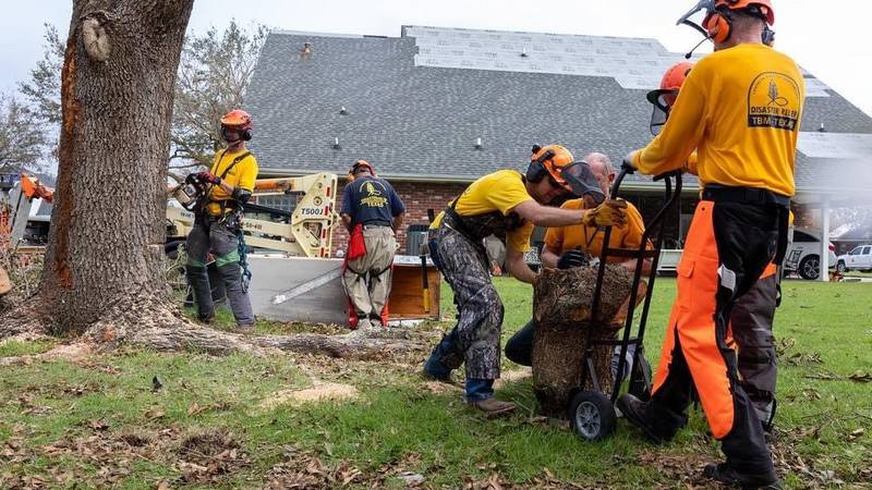 Volunteers from all over serving thousands of meals, helping damaged homes from Hurricane Ida.
