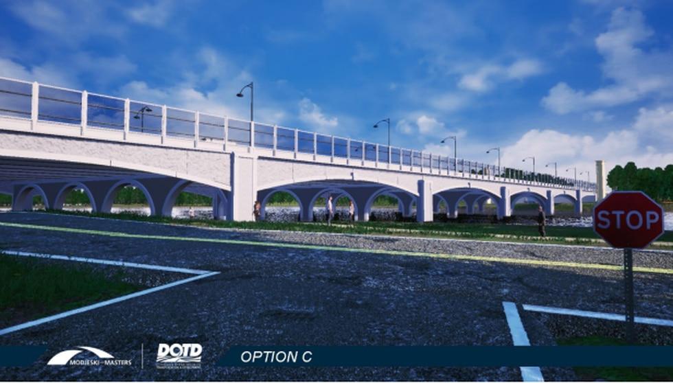 Preferred design for I-10 City Park Lake Bridge.