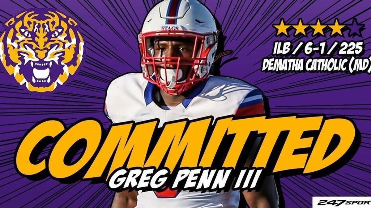 Four star linebacker Greg Penn commits to LSU