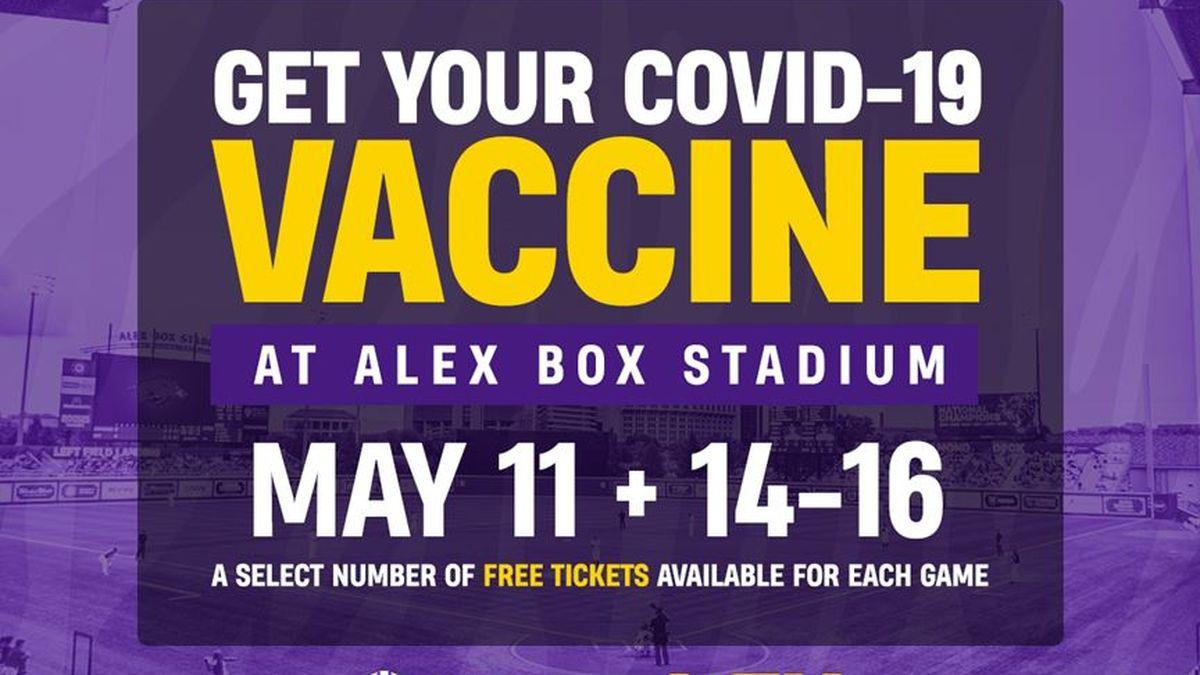 LSU to host vaccination clinic at Alex Box Stadium starting next week