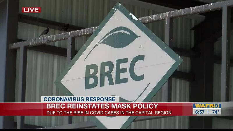 BREC reinstates mask policy due to increase in COVID cases