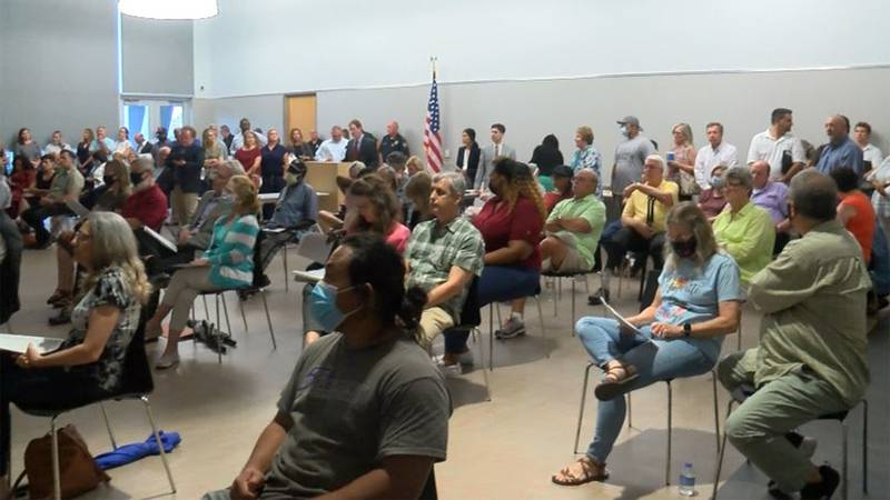 Dozens of people packed the EBR Planning Commission meeting on Monday, July 19, 2021, as it...