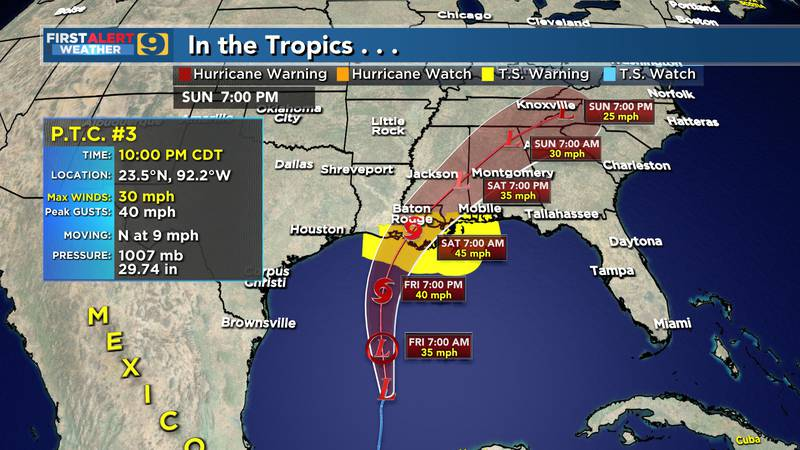Potential Tropical Cyclone #3