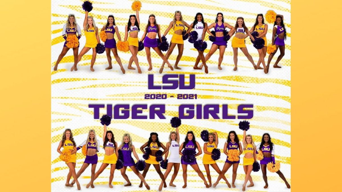 Team photo for the 2020-21 LSU Tiger Girls.
