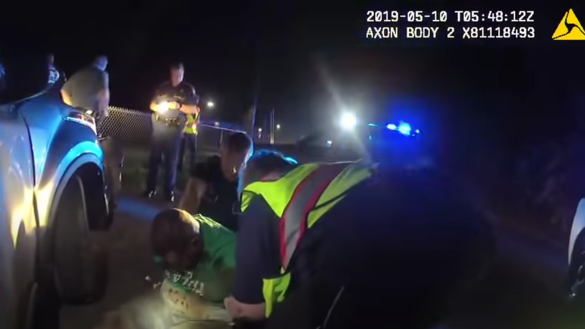 Handcuffed by Louisiana state troopers, Black motorist Ronald Greene desperately tried to roll...