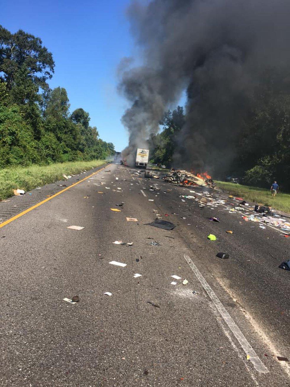A fiery, multi-vehicle crash on I-10 near Port Allen, La. killed a man from Metairie, La., who...