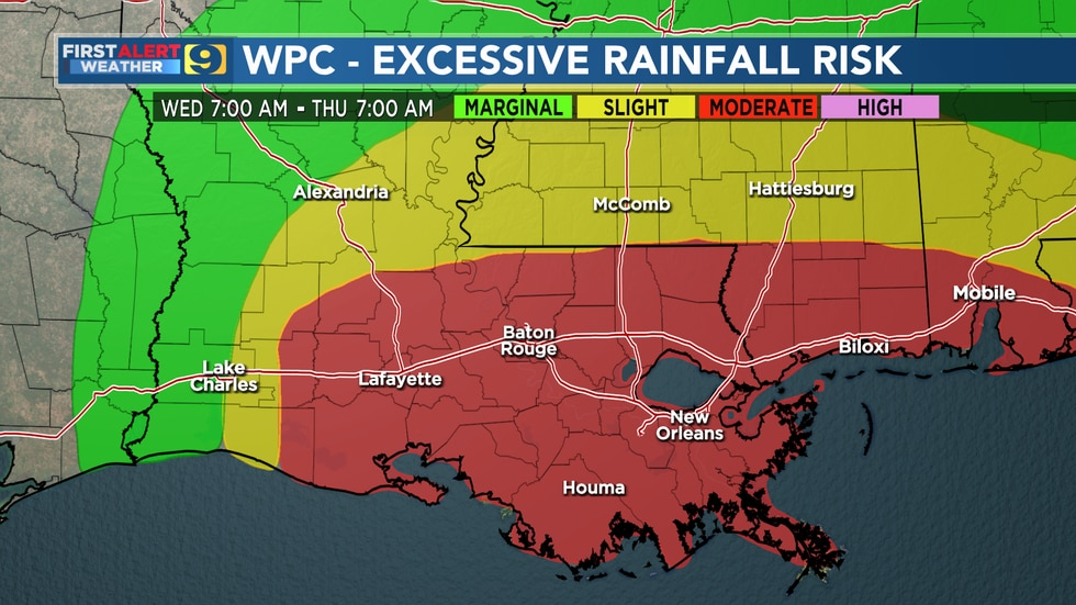 WAFB First Alert Weather Forecast For Tropical Storm Nicholas