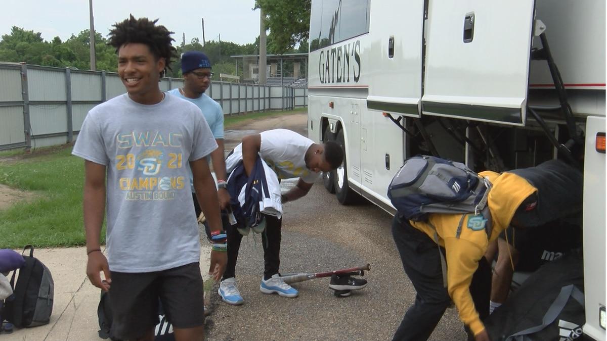 Southern University baseball leaves Baton Rouge, La. for Austin, Texas on Wednesday, June 2,...