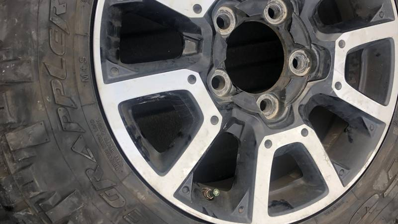 Local councilman's tire slashed.