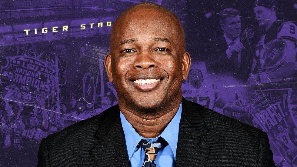 LSU Wide Receivers Coach Mickey Joseph