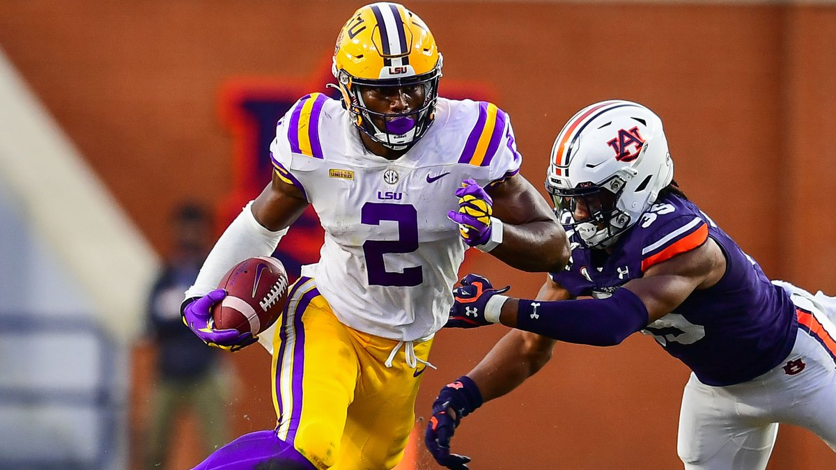 Arik Gilbert of the LSU Tigers during the second half of a game against the Auburn Tigers at...