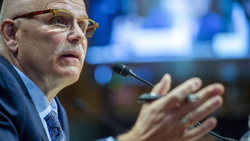 Chris Magnus testifies before the Senate Finance Committee on his nomination to be the next...