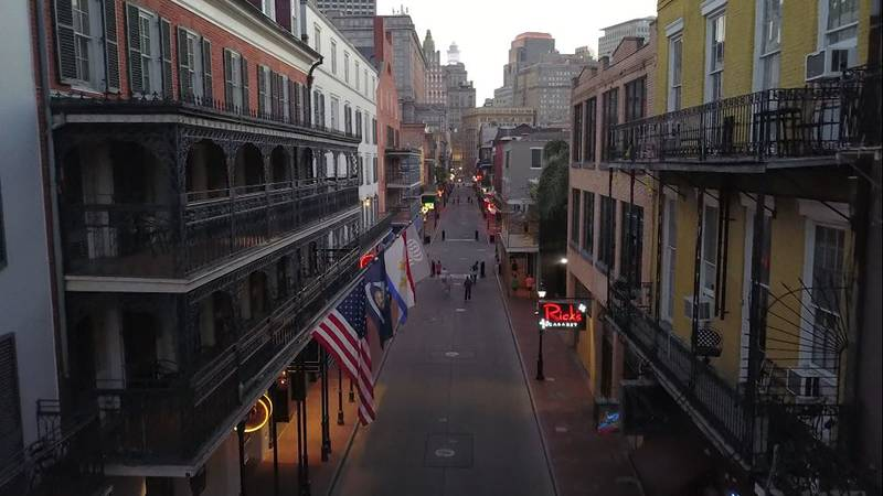 The streets of New Orleans are unusually quiet during the pandemic.
