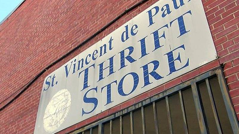 There are still many empty shelves at the St. Vincent de Paul Thrift Store while they seek more...