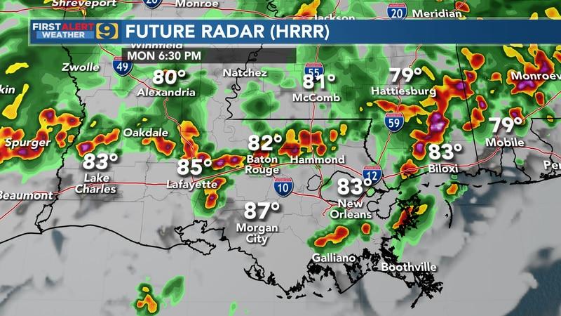 Future radar for Monday, July 19.