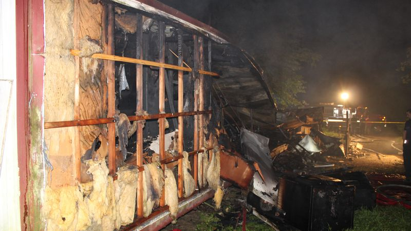 Officials say the deceased person's body was burned so badly they have not yet been able to...
