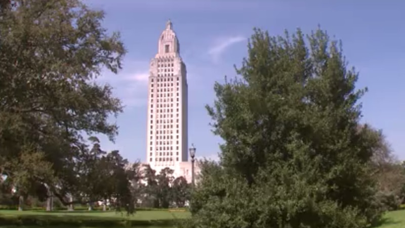 State Capitol building in Louisiana.