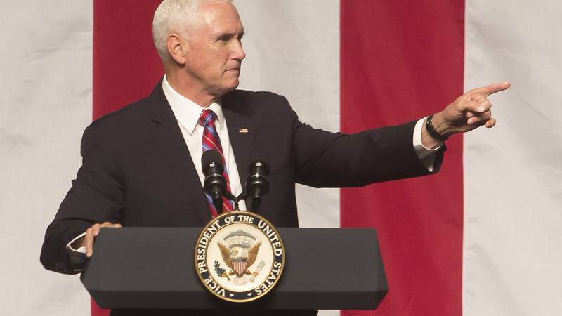 Vice President Pence visits the Pontchartrain Civic Center in Kenner, La. on Oct. 5, 2019.