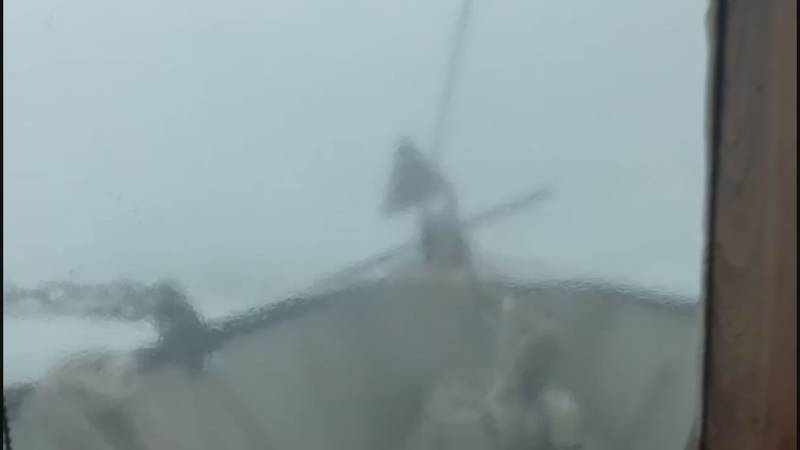 Aaron Callais shares a terrifying video of conditions off the coast of Louisiana in the Gulf of...
