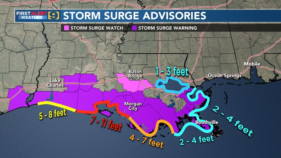 Storm Suge Advisories