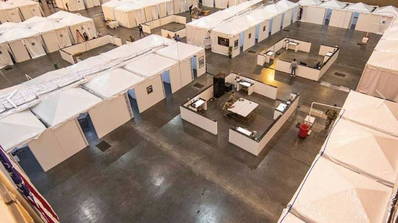 1,000 beds at the Morial Conventin Center medical surge facility will free up ICU beds at...