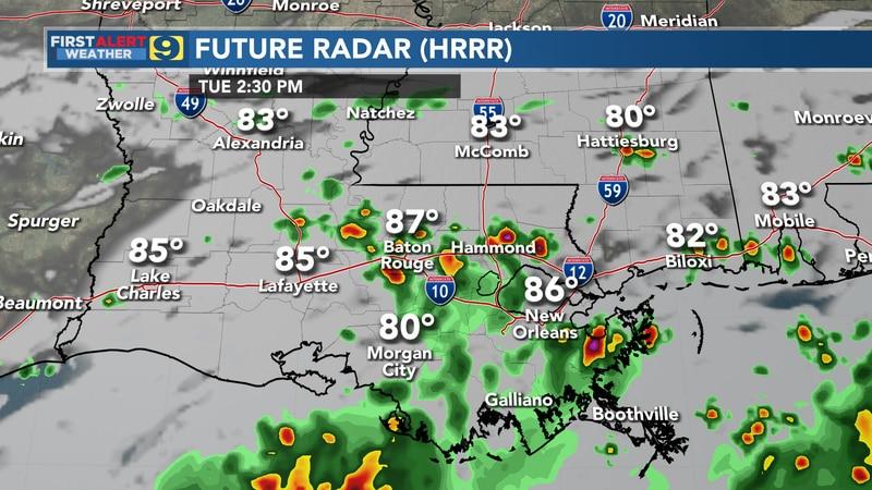 Future radar for Tuesday, June 22.