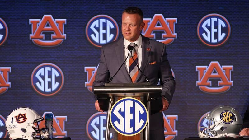 Auburn head coach Bryan Harsin