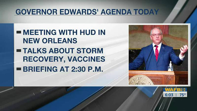 Governor John Bel Edwards to meeting with HUD in New Orleans Friday