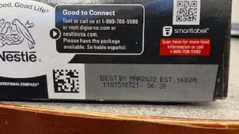 The label of the recalled DiGiorno's frozen pizza.