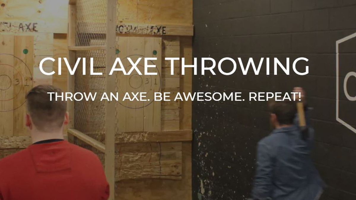 Civil Axe Throwing says the activity is sort of like throwing darts, but with axes!
