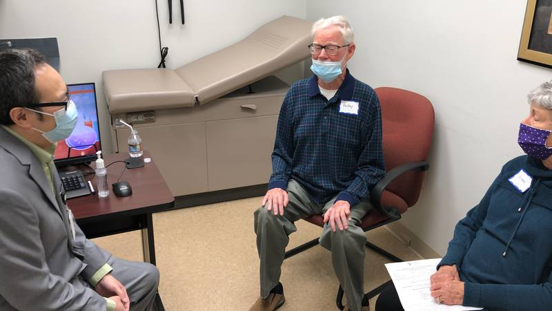 Bobby and Susan McCall meet with one of the many specialists at the OLOL's ALS Clinic.