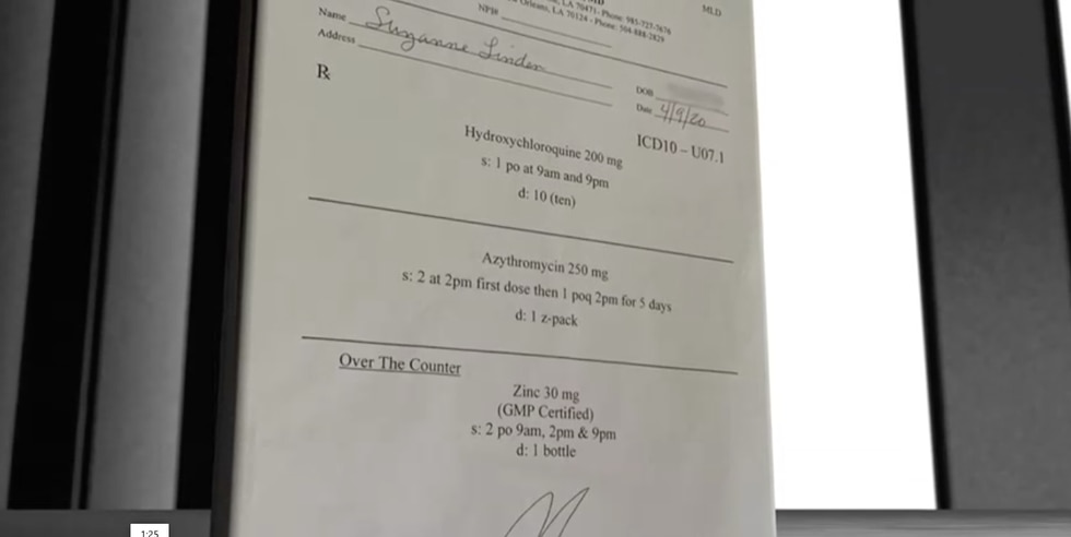 Suzanne Linden was given this prescription after she was told an antibody test indicated she...